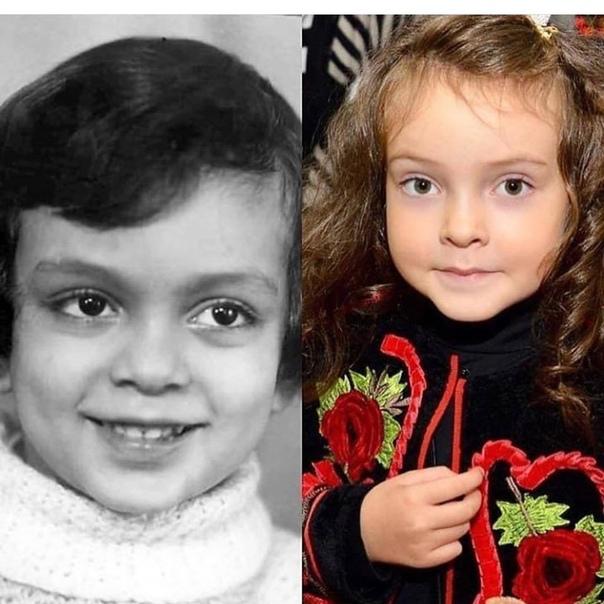 Филипп Киркоров в детстве и его дочка.