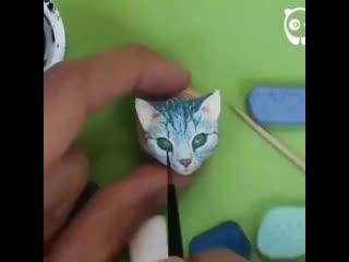 МК по росписи кошки