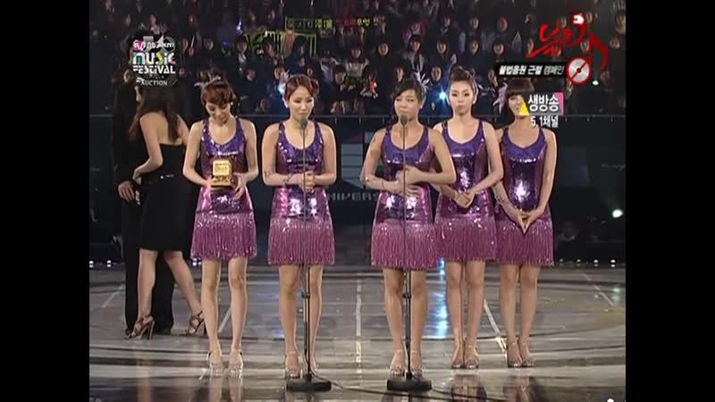 Wonder Girls win Best Music Video @ MKMF 2008 081115