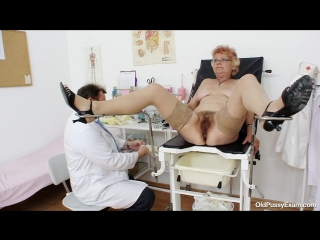 [oldpussyexam] bety [medical fetish, gyno exam, stockings, gaping, pissing, mature, pussy closeups, speculum]