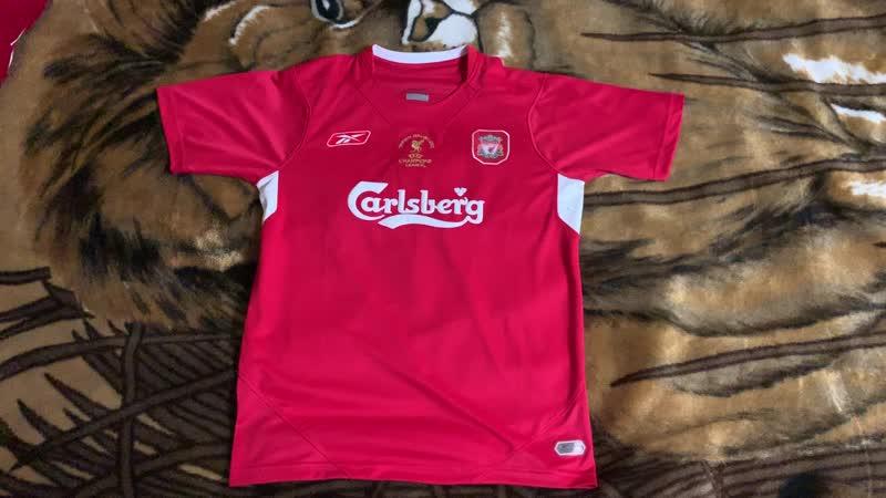 Обзор футболки Ливерпуля 2005