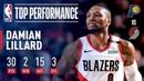Damian Lillard FIRST Career 30/15 Game March 18, 2019 NBANews NBA