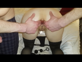 Anal slut get asshole stretched and fucked | amateur big dick hardcore toys rough sex gape inflatable buttplug doggy style dildo