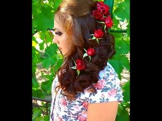 Прическа с живыми розами! Катюшка Лазаренко