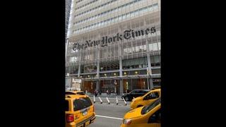 Инаугурация самозванца Токаева незаконна. Перед зданием издания Нью-Йорк Таймс прошел митинг / БАСЕ