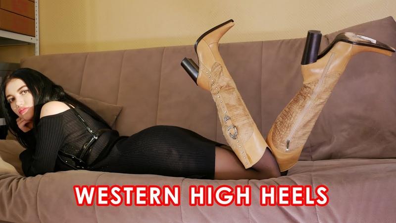 Nana's pointed toe high heels Gianmarco Lorenzi western boots Size EU 37 US 7 Leather and Fur