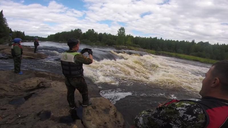 река Водла порог Падун Самосплав