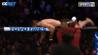 Драка в UFC 229 : Хабиб Нурмагамедов напал на ДИлЛОН ДЕНИСА после победой над Конором Макгрегором