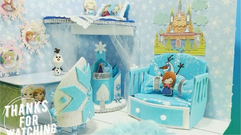 DIY Miniature FROZEN Bedroom DIY Super Terrific Happy Kitchen Miniature Dollhouse Room