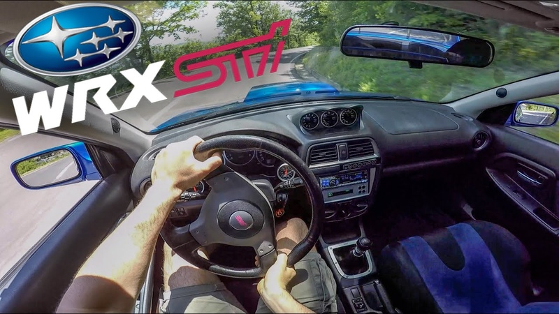 FAST DRIVE Subaru Impreza WRX STI 2003 330hp RAW POV Turbo Anti Lag Backfiring BLOW OFF SOUND