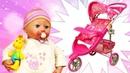 Беби Анабель и новая коляска. Мультики для девочек. Играем в куклы как мама
