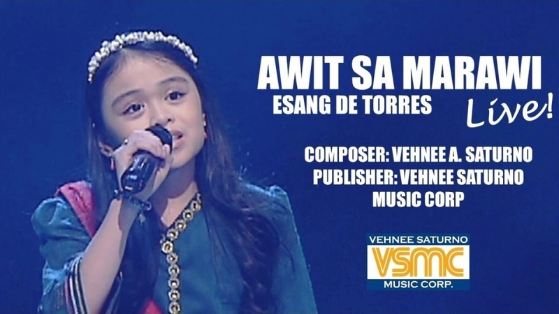 Esang De Torres Awit Sa Marawi LIVE
