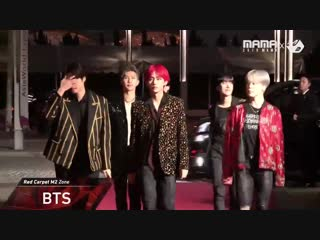 181214 2018mama red carpet m2 zone in hong kong  mamaredcarpet bts