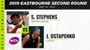 Sloane Stephens vs Jelena Ostapenko 2019 Eastbourne International Second Round Highlights