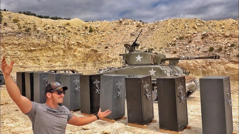 Cнаряд танка против бронированных оружейных сейфов | Разрушительное ранчо | Перевод Zёбры