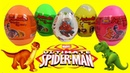 SPIDERMAN And ANIMAL Surprise EGGS