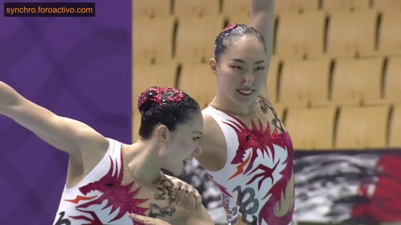 Juka Fukumura/Megumu Yoshida (JPN) Duet Free Preliminary Japan Open 2018