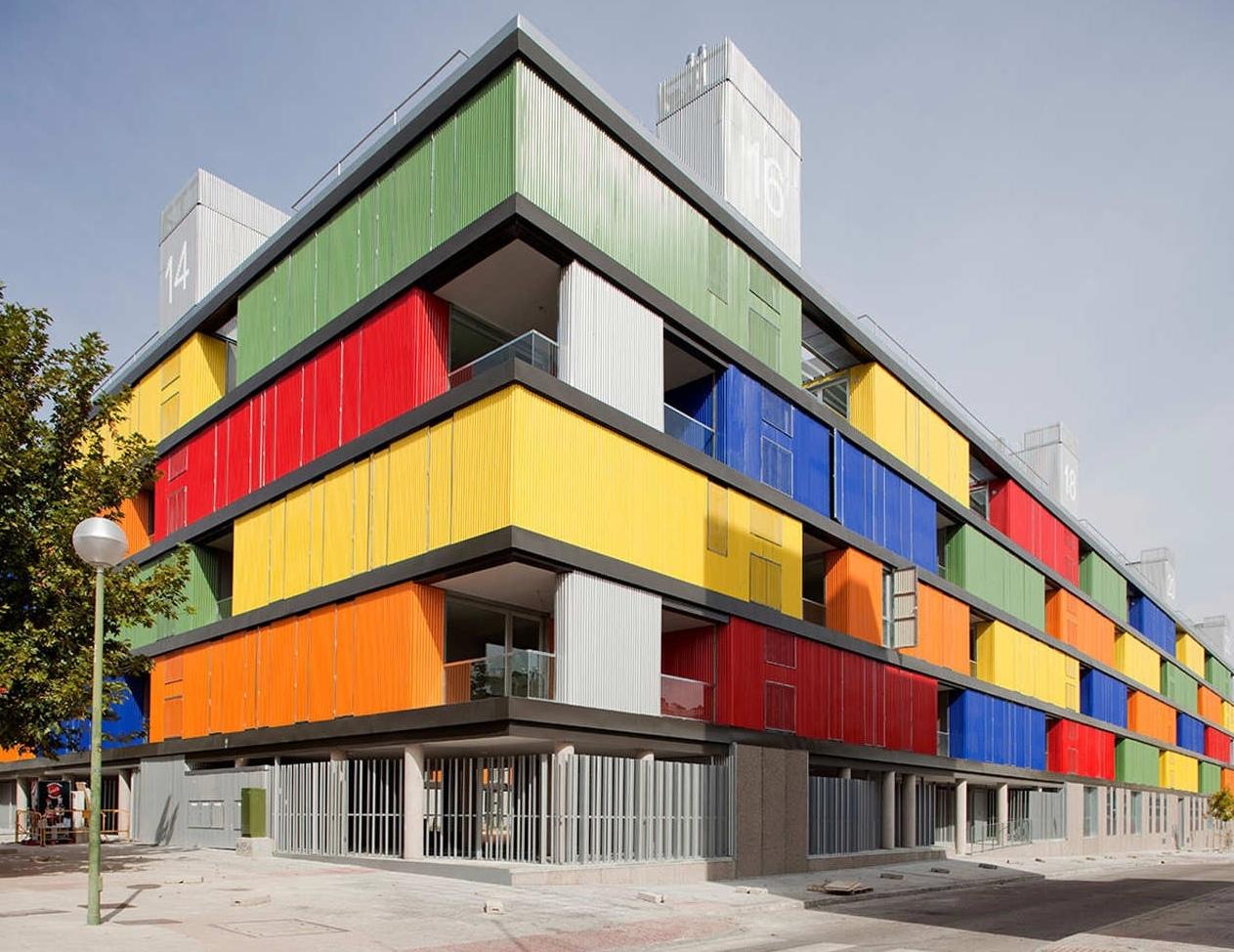 Необычный жилой дом в Мадриде