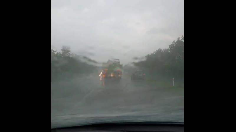 Ливневые дожди парализовали движение на трассе Комрат - Чадыр-Лунга