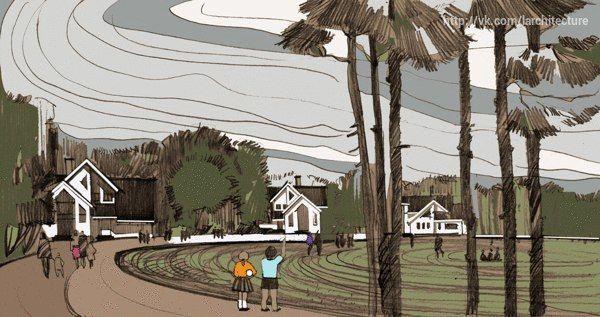 Illustrations of housing development/Natalia Len