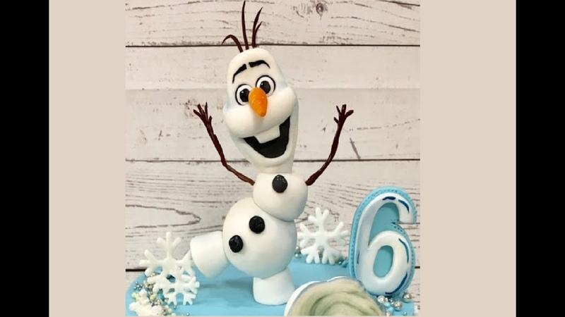 Олаф из мастики How to Make a Fondant Olaf from Disneys Frozen - Cake Decorating Tutorial