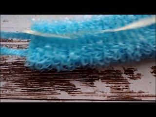 Как связать мочалку крючком Самый простой способ. Уроки по вязанию.