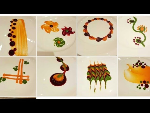 Types of colorful Plating techniques| Part 2 | Art on the plate| By MONIKA TALWAR
