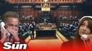 Watch the bidding war over Banksy's £9.9m 'Devolved Parliament'