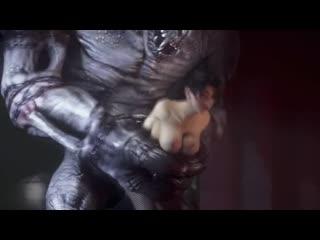 Hot hentai girl railed by monster 3d hentai acg18