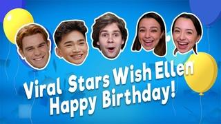 Дав Камерон и другие знаменитости поздравляют Эллен Дедженерес с Днем Рождения.