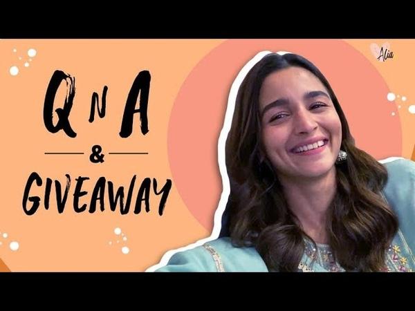Alia Bhatt s QnA Giveaway 1 Million Subscribers Alia Bhatt