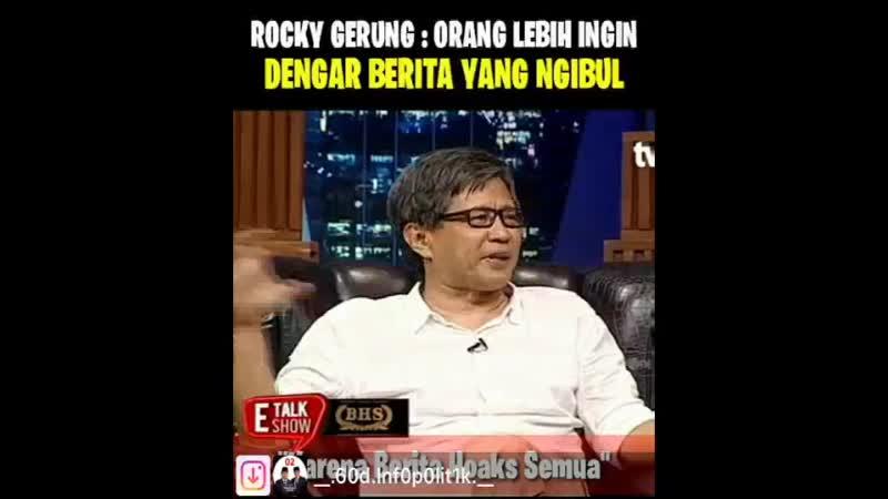 Rocky Gerung mengaku Nganggur dan Ngibul dan dikeroyok Koloni 200