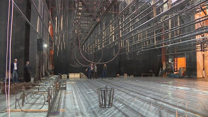 Подготовка к ремонту в Башдраме