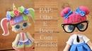 PAP: Olho e boca da bonequinha Lol em Papel trasfer
