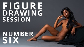 Figure Drawing Session #6 - Nude Model Art Reference - Aubrey Rose