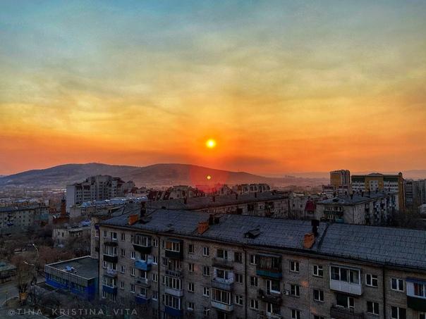 Закат над городом чита фото