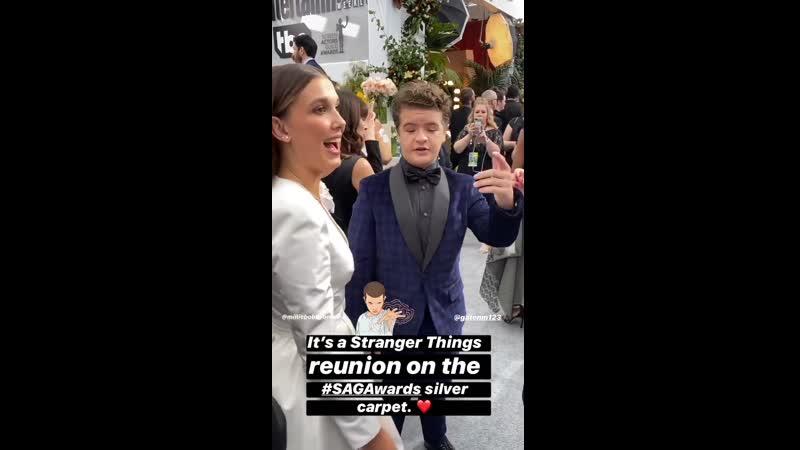 Millie and Gaten at SAG Awards 2020 смотреть онлайн без регистрации