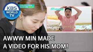 News | Awww Min made a video for his Mom! [Stars' Top Recipe at Fun-Staurant/ENG/]