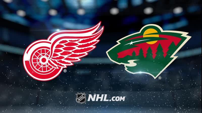 NHL Detroit Red Wings vs Minnesota Wild НХЛ Детройт Ред Уингз и Миннесота Уайлд