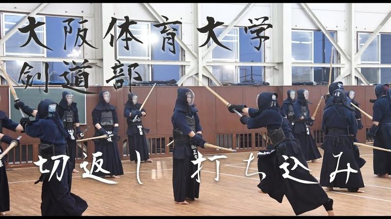 Kirikaeshi Uchikomi Osaka University of Health and Sport Sciences Kendo Club 大阪体育大学剣道部 切り返し・打ち込み