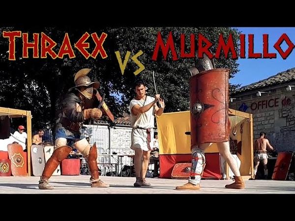 Gladiator Fight Thraex VS Murmillo ACTA Ancient Roman HEMA Saintes