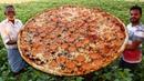 Pepperoni Pizza Recipe Without Oven | Biggest Italian Pizza Never Seen Before | Grandpa Kitchen