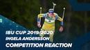 Ингела Андерссон о победе в спринте (Раубичи-2020)