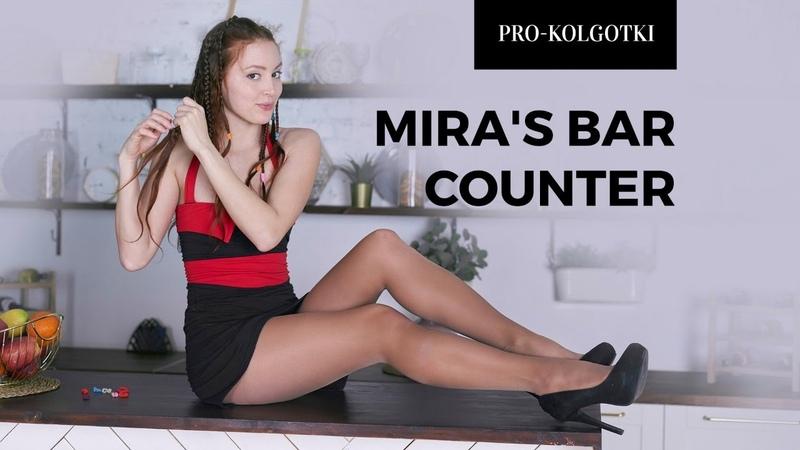 MIRA WEARING SHEER CONTROL TOP PANTYHOSE 2019-04(2)