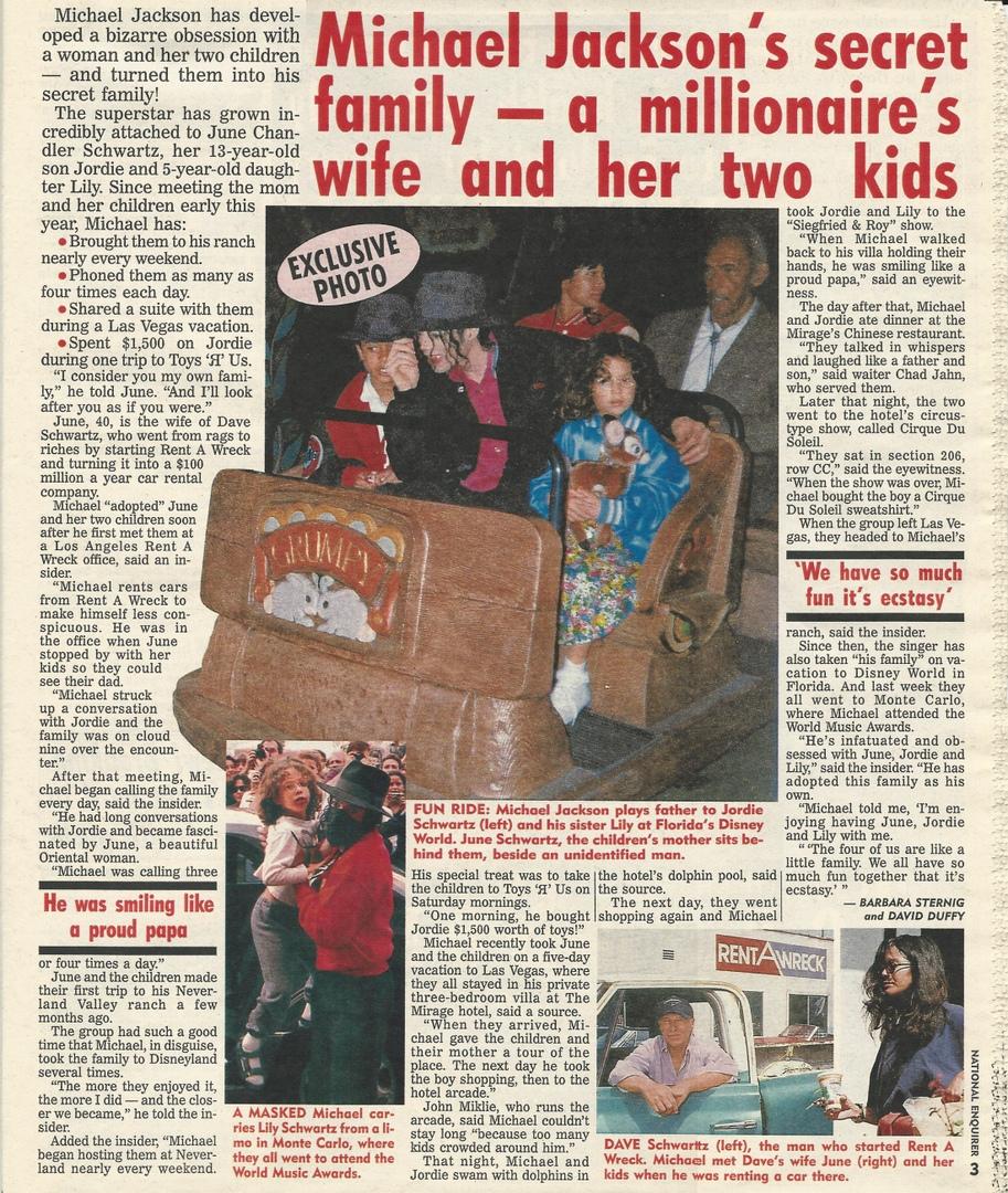 """Поездка в Вегас. Статья в """"Нэшнл Инквайрер"""" от 25 мая 1993 г., изображение №1"""