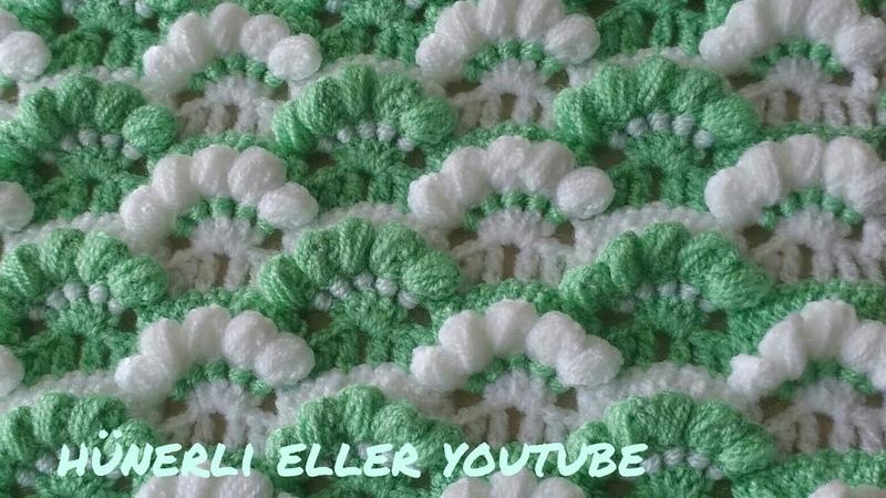 Pıtırcık Lif Battaniye Atkı Modeli Yapılışı Crochet Patterns