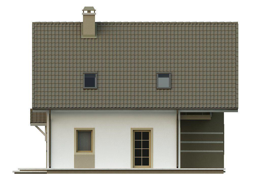 Стильный дом с мансардой, экономичный в строительстве и эксплуатации.