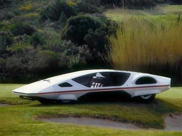 Элегантность ретрофутуризма: итальянский автомобиль будущего в 1970