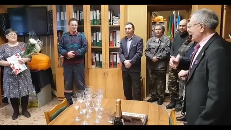 Юбилей коменданта общежития Гульдар Алтынбаева Аксеновскийагропромышленныйколледж