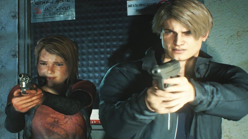 Ellie From The Last of Us Meets Leon Kennedy in Raccoon City FanMade RE2 Modd w voice over